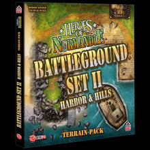 Load image into Gallery viewer, Heroes of Normandie: Battleground Set II Harbor & Hills Terrain Pack - IELLO