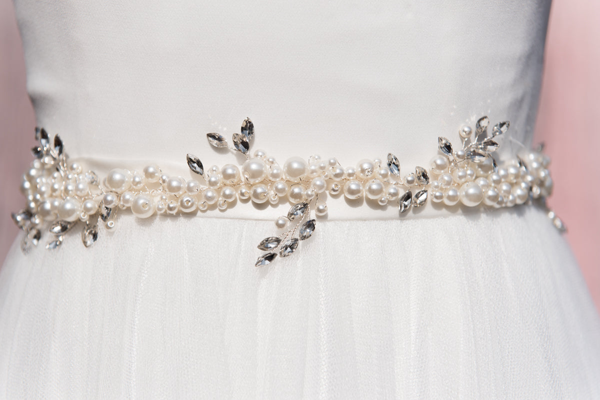 Canadian wedding accessories. Bridal sashes and belt accessories.