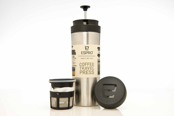 Espro Travel Press, stainless steel