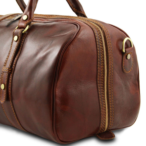 Francoforte - Exclusive Leather Weekender Travel Bag - Small Size
