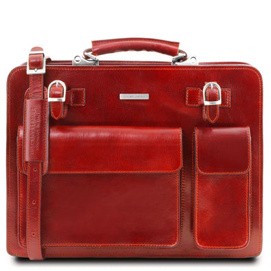 Venezia - Leather Briefcase 2 Compartments
