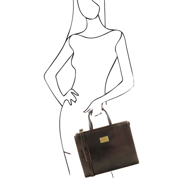 Palermo - Leather Briefcase 3 Compartments For Women