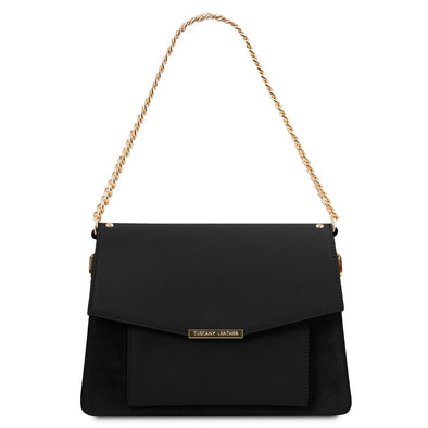 Andromeda - Leather Handbag With Chain Strap