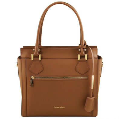 Lara - Leather Handbag With Front Zip