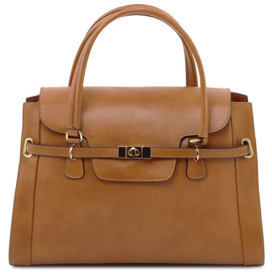 Tl Neoclassic - Lady Leather Handbag With Twist Lock