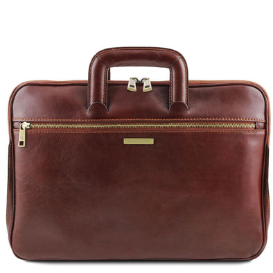 Caserta - Document Leather Briefcase