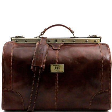 Madrid - Gladstone Leather Bag - Small Size