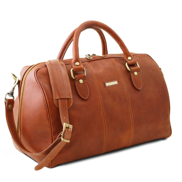 Lisbona - Travel Leather Duffel Bag - Small Size