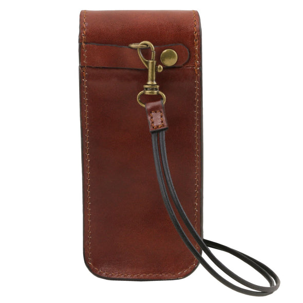Exclusive Leather Eyeglasses/Smartphone Holder Large Size