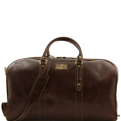 Francoforte - Exclusive Leather Weekender Travel Bag - Large Size