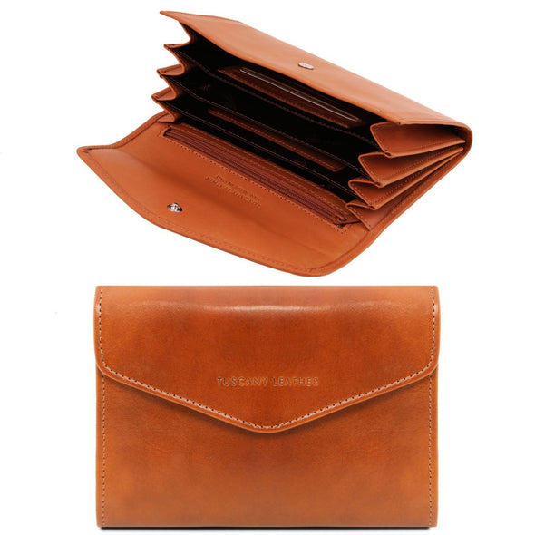 Exclusive Leather Accordion Wallet - Small