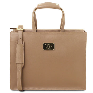 Palermo - Saffiano Leather Briefcase 3 Compartments For Women