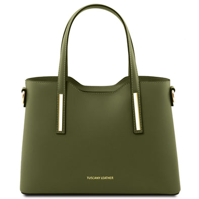 Olimpia - Leather Tote - Small Size