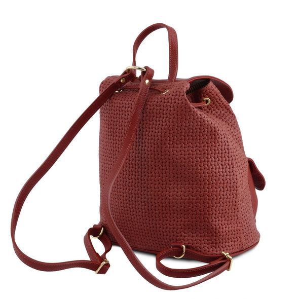 Tl Keyluck - Woven Printed Leather Backpack