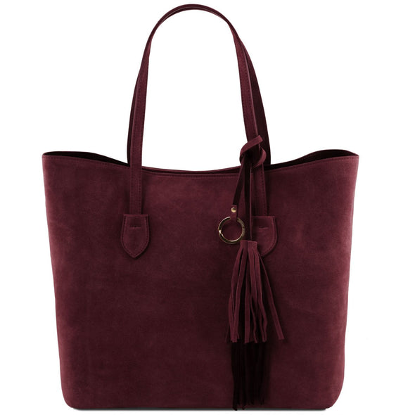 Tl Bag - Suede Leather Shopping Bag