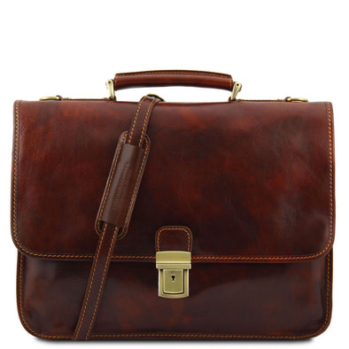 Torino - Leather Briefcase 2 Compartments