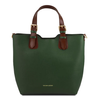 Tl Bag - Saffiano Leather Tote