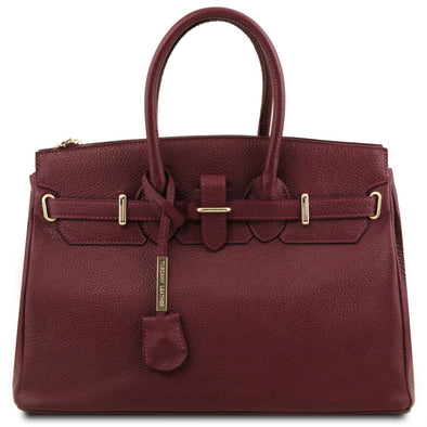 Tl Bag - Leather Handbag With Golden Hardware