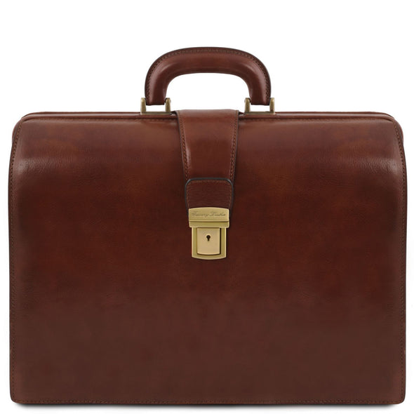 Canova - Leather Doctor Bag Briefcase 3 Compartments