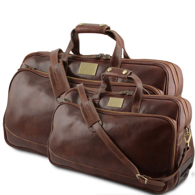 Bora Bora - Leather Trolley Travel Set