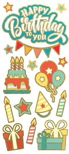 Birthday Faux Enamel Sticker
