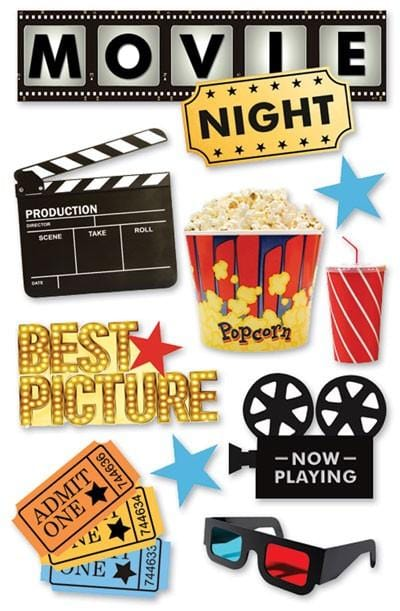 Movie Night 3D Sticker