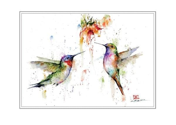 Two's Company Hummingbirds Artist Series Blank Card