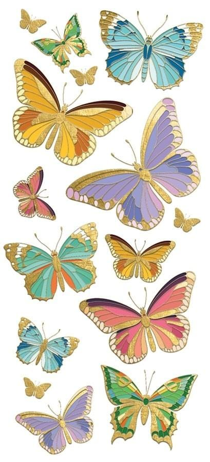 Butterflies Faux Enamel Sticker