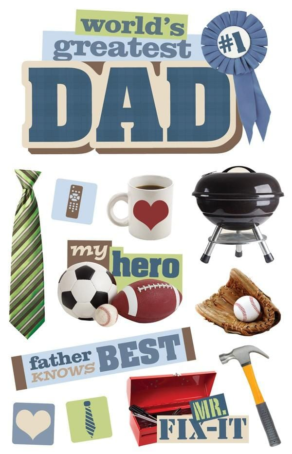 Dad 3D Sticker
