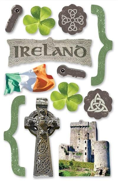Ireland 3D sticker