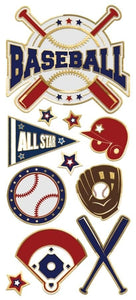 Baseball Faux Enamel Sticker