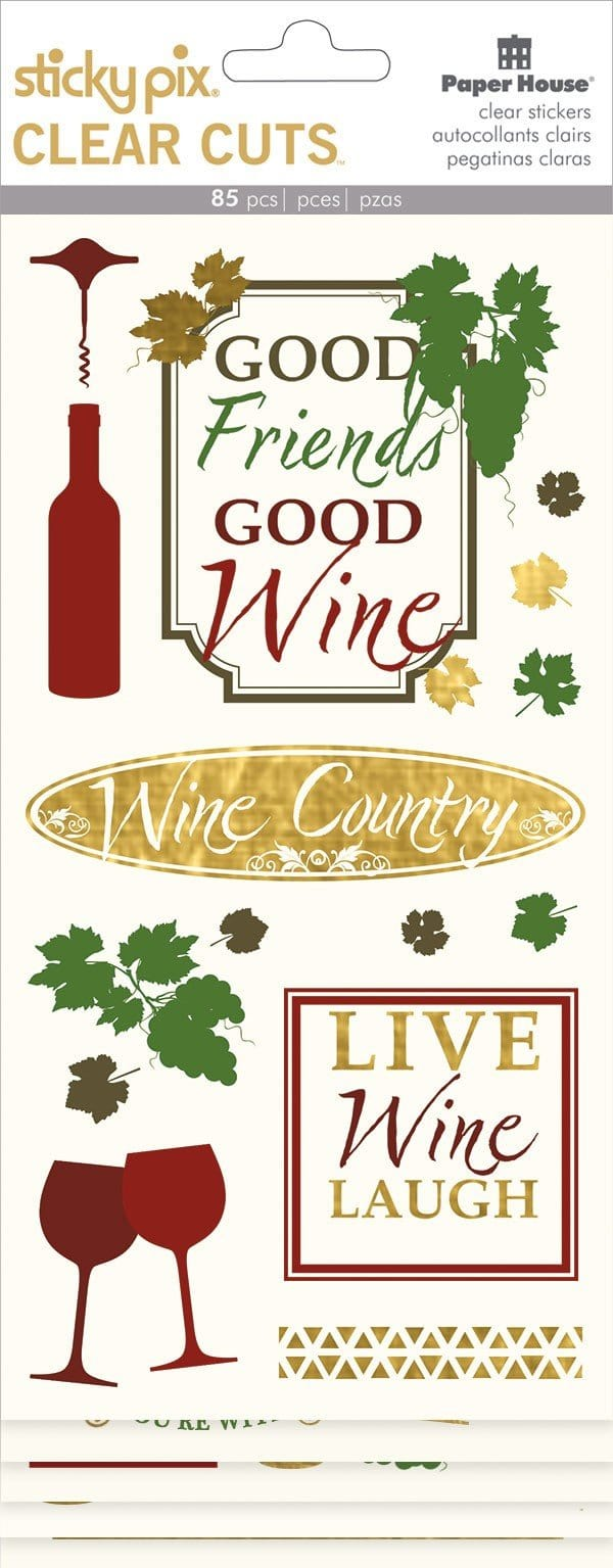 Wine Country Clear Stickers