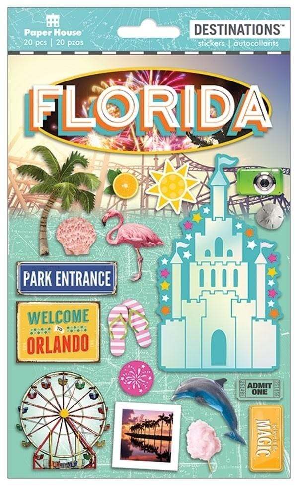 Travel-Florida Magic Destinations Sticker