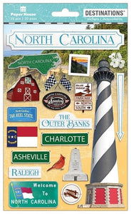 Travel-North Carolina Dimensional Sticker