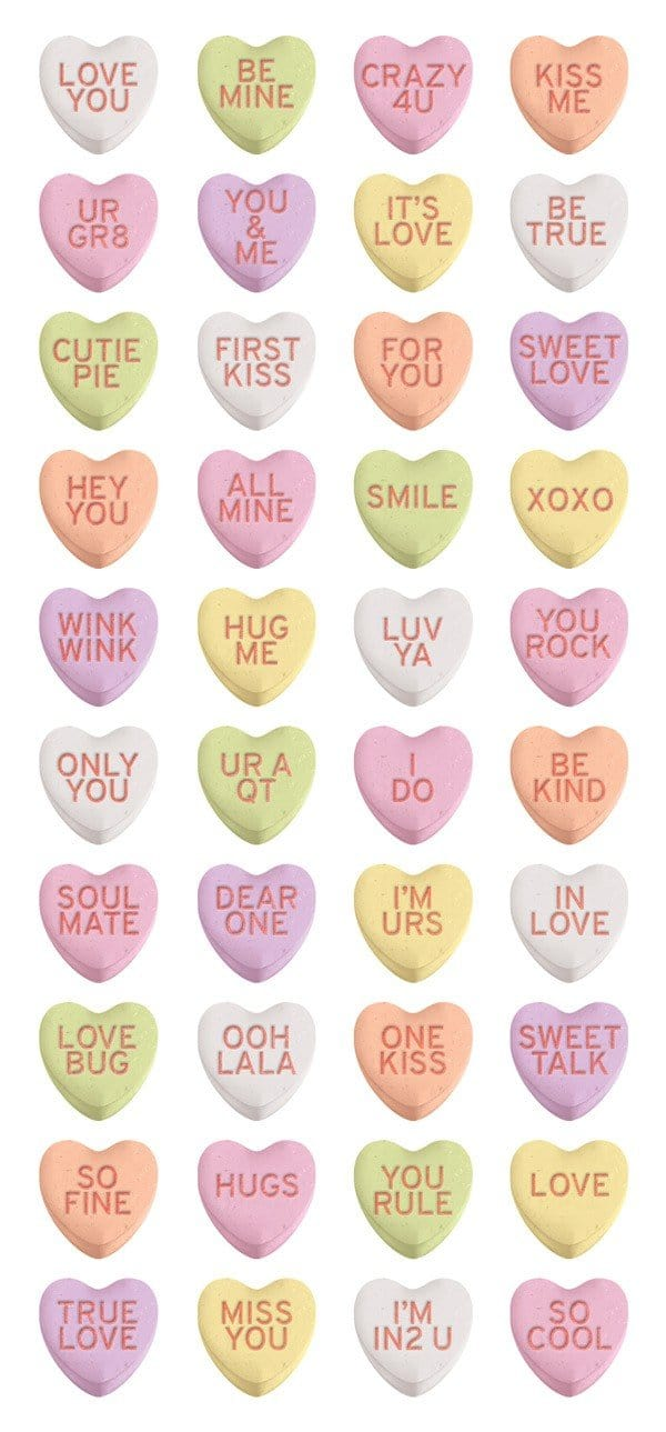 Sweetheart Candies Puffy Sticker