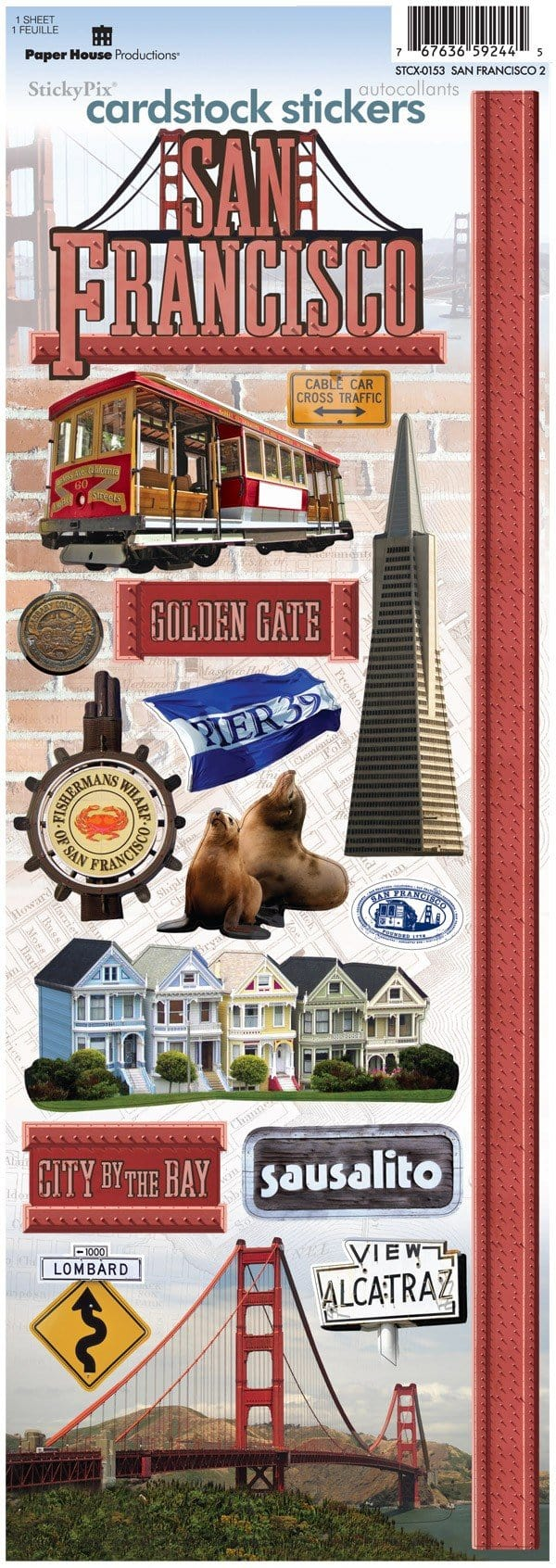San Francisco Cardstock Stickers