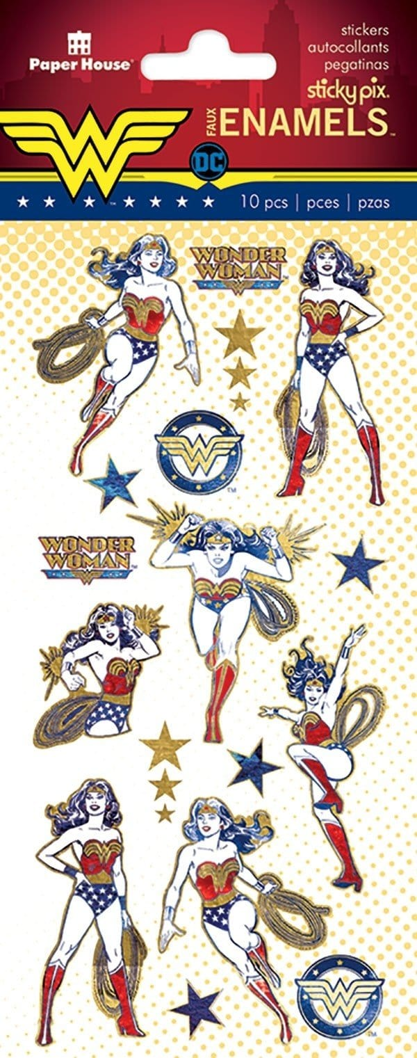 Wonder Woman™ Faux Enamel Stickers