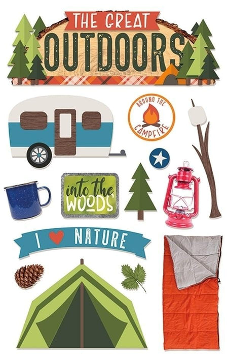 The Great Outdoors 3D Sticker