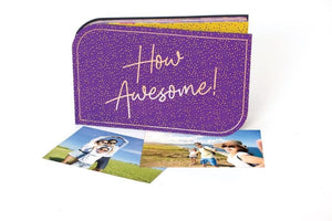 HP Moment Makers Sunny Violet Diecut Photo Album