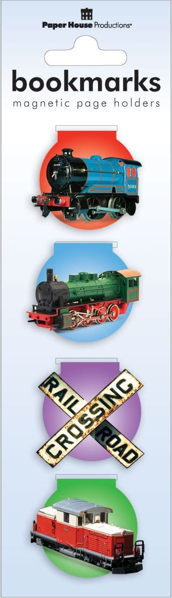 Trains Magnetic Bookmarks