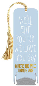 Where The Wild Things Are - we'll eat you up bookmark