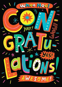 Congratulations Neon Ink Card