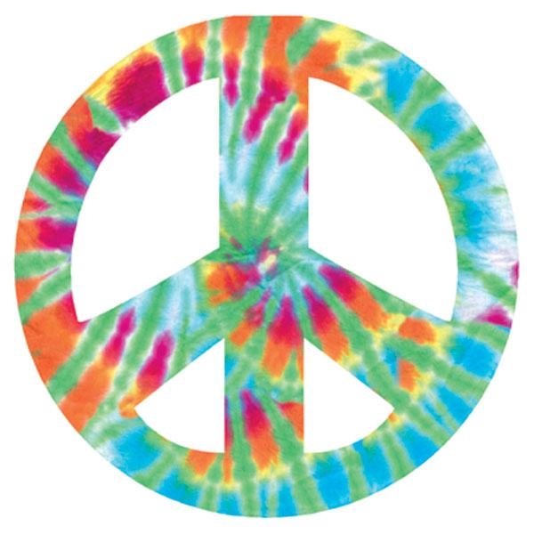 Peace Sign - Tie Dye Diecut Card