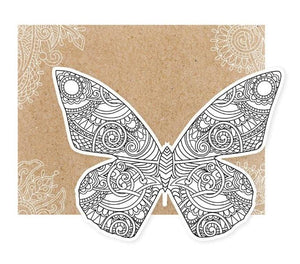 butterfly diecut coloring card