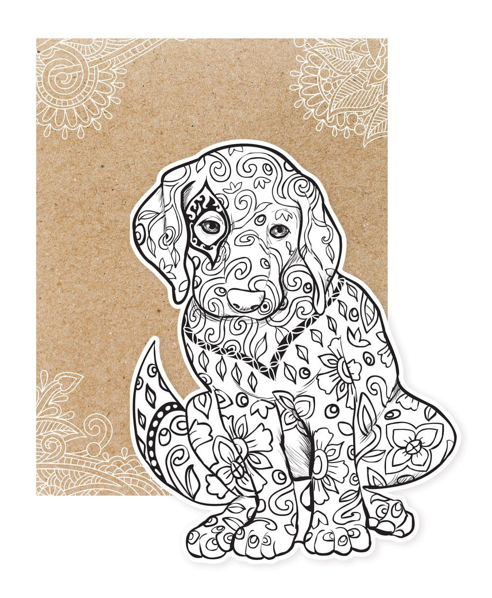 Puppy Diecut Coloring Card