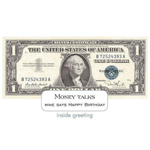 dollar bill diecut card