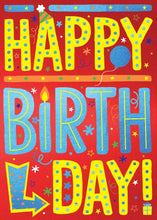 Load image into Gallery viewer, Happy Birthday Lettering 3D Card