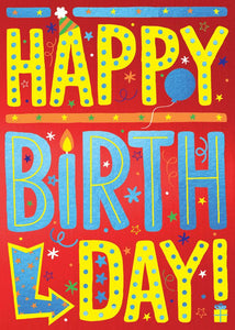 Happy Birthday Lettering 3D Card