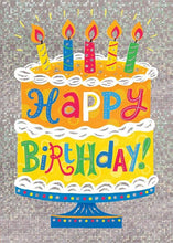 Load image into Gallery viewer, Birthday Cake Foil Card