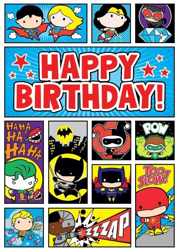 DC Comics ™ Chibi Super Heros Foil Card